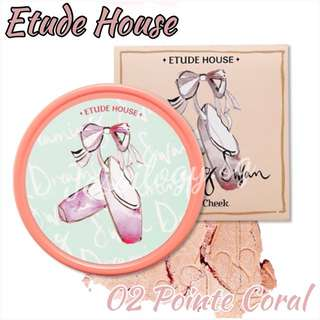 *80% OFF LAST CHANCE CLEARANCE* Etude House Dreaming Swan Eye And Cheek In 02 POINTE CORAL / Etudehouse Dreaming Swan Collection in POINTE CORAL