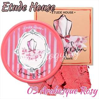 * 80% OFF LAST CHANCE CLEARANCE* Etude House Dreaming Swan Eye And Cheek In 03 Arabseque Rosy / Etudehouse Dreaming Swan Collection in ARABSEQUE ROSY