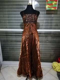 New! Bronze long gown/Evening Gown