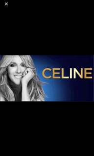 Celine Dion Live in Singapore 4th July Cat A Single Seat (Superb View)