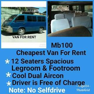 Cheapest Van For Rent