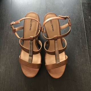Strappy Wedges (Size 10)