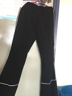 Wide Legs Pants black and white