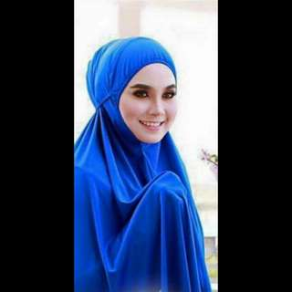 Telekung Royal Blue Arafah Lace