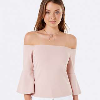 Forever New 'Lucy Flare Sleeve Off Shoulder'