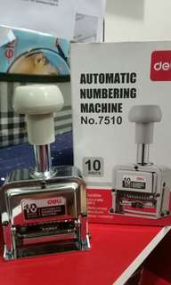 Otomatic machine number.  10 digit