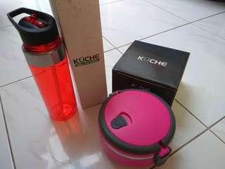 Kuche Lunch Box and Bottle