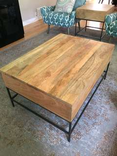 """West Elm Industrial Storage Coffee Table (Small - 36"""")"""