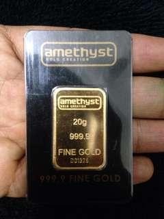 999 gold bar 20gram