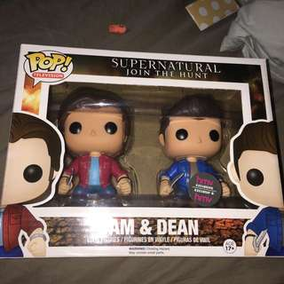 Sam and Dean vinyl funko pop figurines