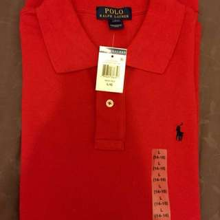 (Sale) $38 Authentic Polo RL Polo shirt( Youth L)