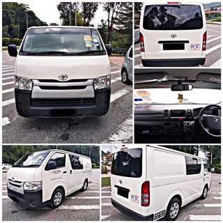 SAMBUNG BAYAR/CONTINUE LOAN  TOYOTA HIACE VAN PANEL MANUAL YEAR 2016 MONTHLY RM 1600 BALANCE 3 YEARS ROADTAX VALID  DP KLIK wasap.my/60133524312/hiace