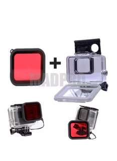 Super Suit Diving Underwater Waterproof Case Protective Housing Red Filter Lens Cover Gopro Hero 6 Hero 5