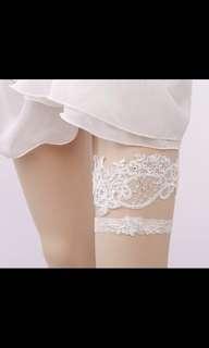 🎀性感蕾士 新娘 大腿環 襪帶 遮瑕