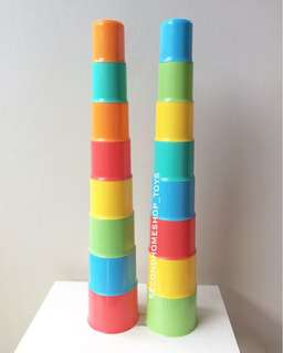 MOTHERCARE Colorful Stacking Cups NEW mainan anak elc murah