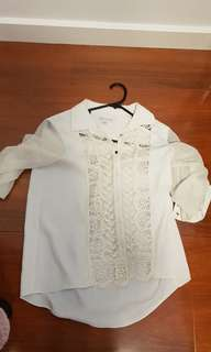 Forevew  new lace blouse size 6