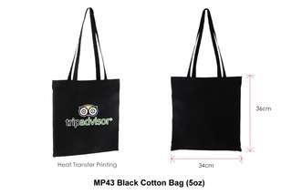 Wholesale Black Cotton Bag (5oz)