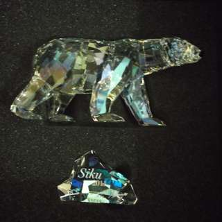 SWAROVSKI 2011 SCS ANNUAL EDITION SIKU THE POLAR BEAR WITH PLAQUE #1053154