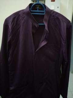 Baju Melayu Elrah Size S(Dark Purple) inc courier