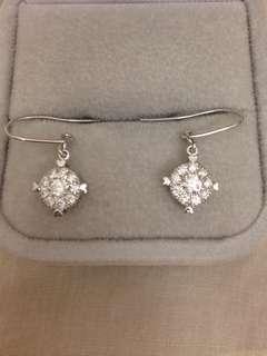 18K750白金鑽石耳環 一卡枱面 Natural Diamond earrings
