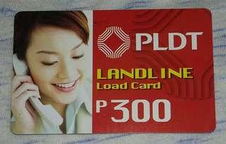 PLDT Landline Load Card P300