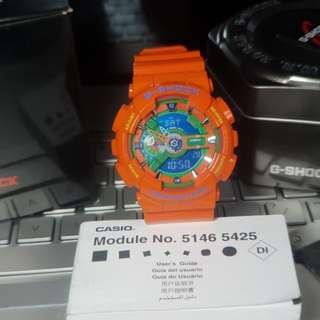 G-Shock GA-110A Hyper Orange Mens Womens Watch Gshock
