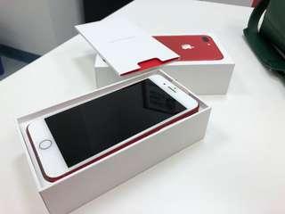 Unlocked 128GB Red iPhone 7 plus