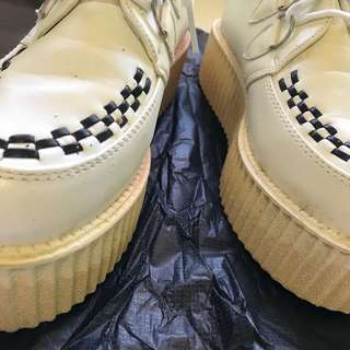 Vintage creepers with checkerboard pattern