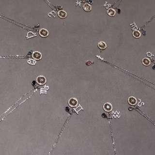 施華洛12星座頸鏈