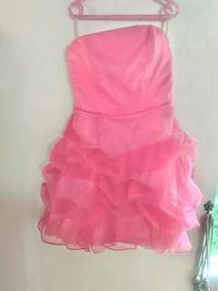 Hotpink cocktail dress / gown