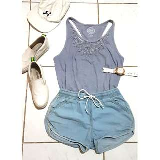 Blue Sleeveless AAH