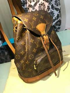100% Authentic Louis Vuitton Monogram Montsouris MM