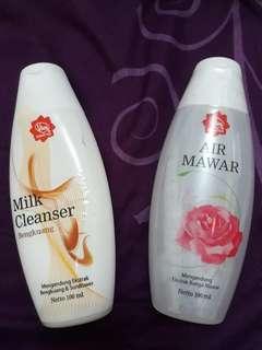 Viva milk cleanser dan air mawar