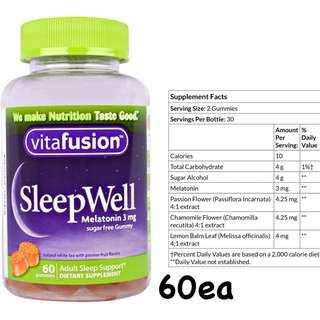🚚 代購現貨[美國代購] Vitafusion Sleep well 軟糖 60顆