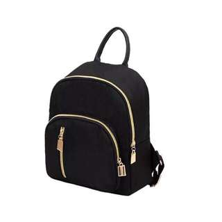 Fashion Korean Smal black bag pack ONHAND