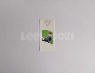 SEVENTEEN Love & Letter Woozi Bookmark.