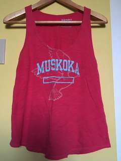 Red Muskoka tank from old navy