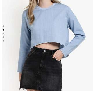 Something Borrowed Cropped Sweater
