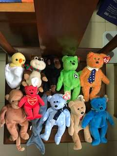 Whole set of beanie babies with tag