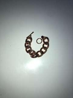 Rose gold heavy chain bracelet