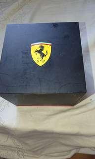 Ferrari法拉利紅黑膠帶手錶