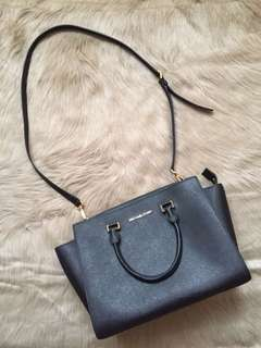 Original MICHAEL KORS SELMA SAFFIANO Black Medium Bag