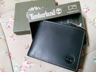 Authentic Timberland Genuine Leather Wallet Black