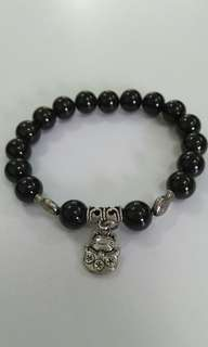 Natural Crystal bracelet红石榴招财猫水晶手串