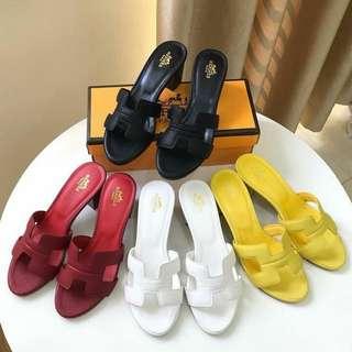 Hermes sandals with heels