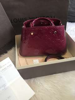 Louis Vuitton Montaigne Monogram Vernis Leather