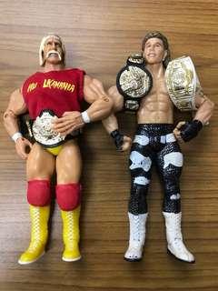 Jakks Pacific WWE Classic Superstars Hulk Hogan vs CS6 Heartbreak Kid Shawn Michaels Brand New