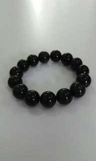 Natural Crystal bracelet天然黑耀石水晶手串