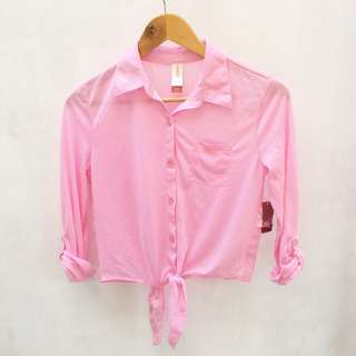 Pink knotted polo