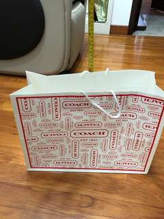 Paper bag Coach 30cm x 40cm x 15cm